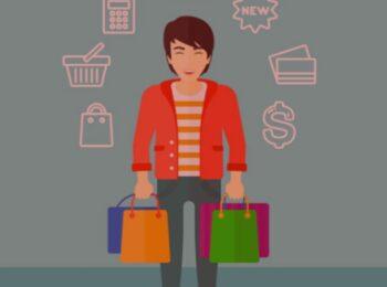 artigo: A RELAÇÃO DE CONSUMO E O ENFRENTAMENTO DO COVID-19. #PraCegoVer: na foto, um homem segurando algumas sacolas de compra. Cores na imagem: azul, amarelo, laranja, verde, roxa, azul e branca.